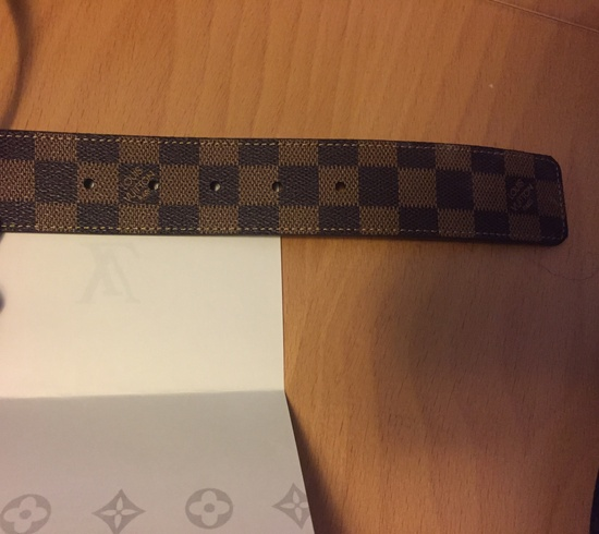 louis vuitton louis vuitton brown damier belt size 38
