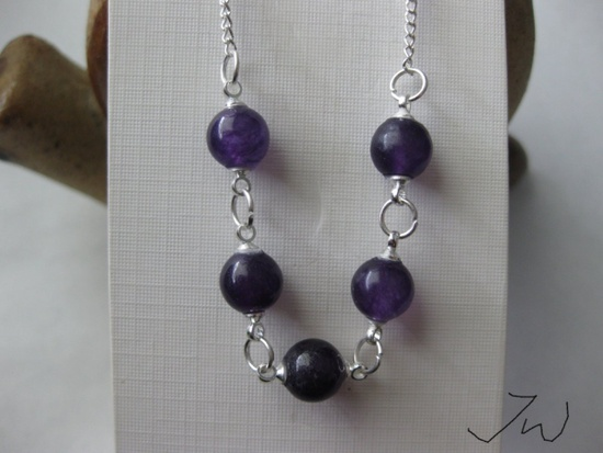Jw 5 Purple Amethyst Beads Chain Necklace Size ONE SIZE - 4