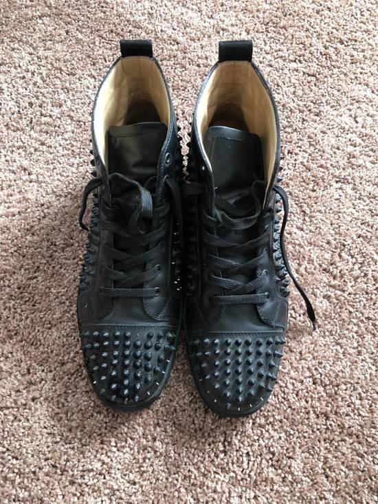 more photos ba8eb 94778 Christian Louboutin Black Spike Sneakers