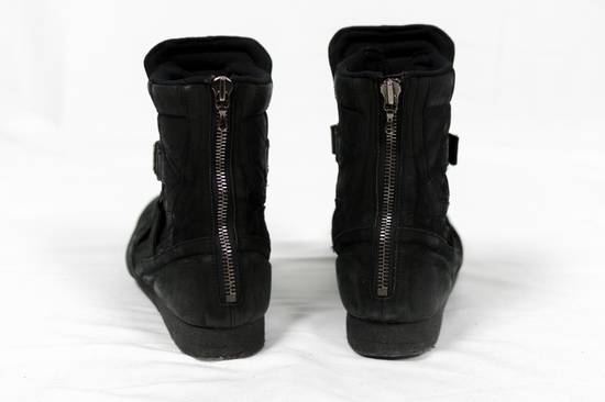 Julius AW11 Waxed Black Strapped Leather Boots Size US 9 / EU 42 - 3