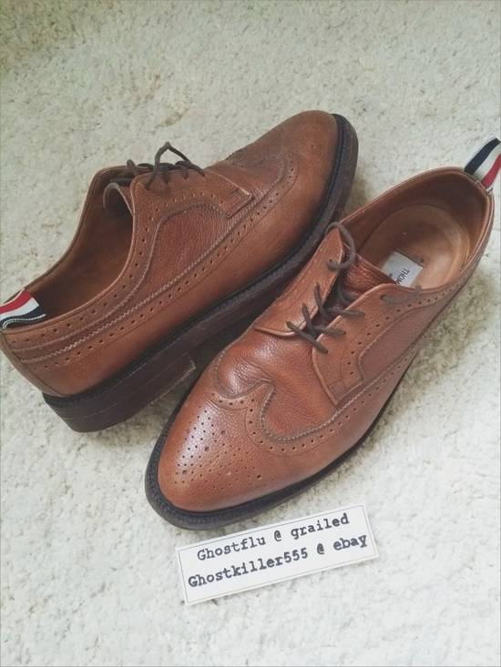 Thom Browne Thom Browne Classic Pull Tab Brown Leather Longwing Brogue Pebble Grain Size 11 Size US 11 / EU 44 - 6