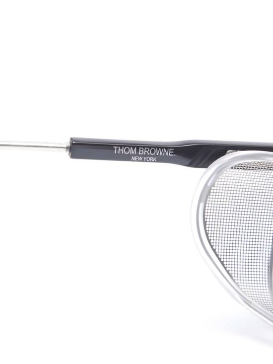 Thom Browne TB-018 Glasses - Black/Matte Silver Size ONE SIZE - 6