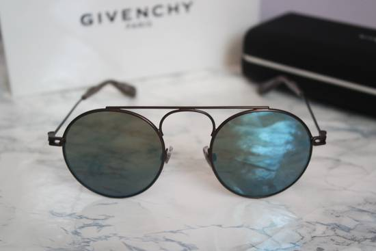 Givenchy NEW Givenchy 7054/S Bronze Blue Mirrored Round Sunglasses Size ONE SIZE - 2