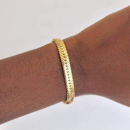 Givenchy Gold Plated Herringbone Bracelet Size ONE SIZE