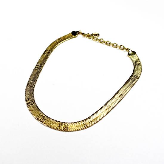"Givenchy 17.25"" Gold Logo Engraved Chain Necklace Size ONE SIZE - 1"