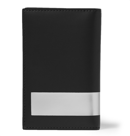 Givenchy Givenchy Metallic Trimmed Leather Card Holder Black Size ONE SIZE - 1