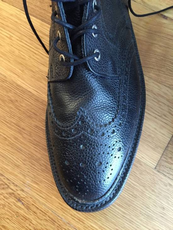 Thom Browne Black Leather Brogue Boots Size US 12 / EU 45 - 5