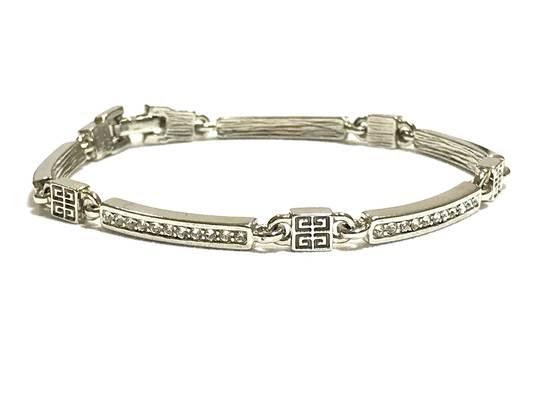 Givenchy Silver Tone Rhinestone Bracelet Size ONE SIZE