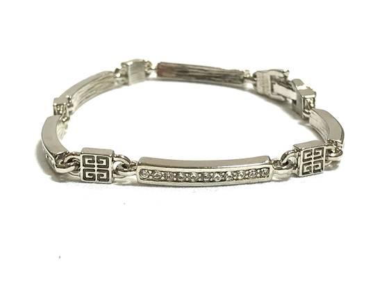 Givenchy Silver Tone Rhinestone Bracelet Size ONE SIZE - 1