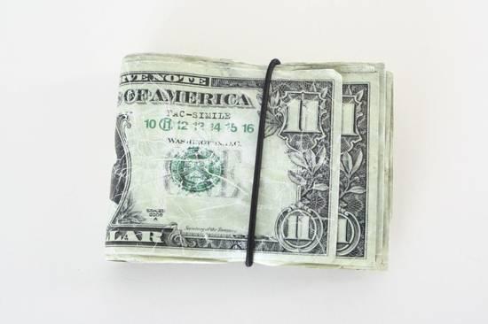 Maison Margiela rare MAISON MARTIN MARGIELA $11 dollar bill elastic band bifold leather wallet Size ONE SIZE - 1