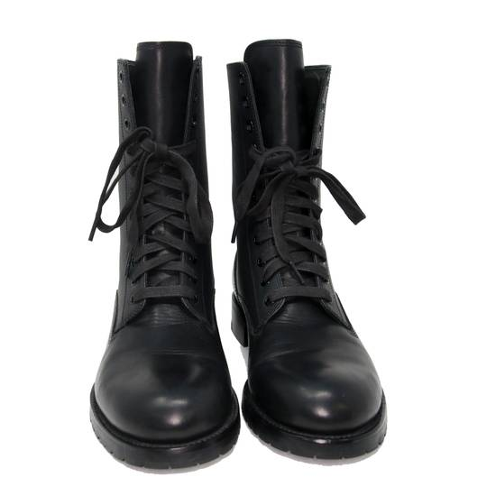 Balmain Balmain Black Classic Pierre Men's Leather Panelled High Combat Boots Booties Size US 9 / EU 42 - 2