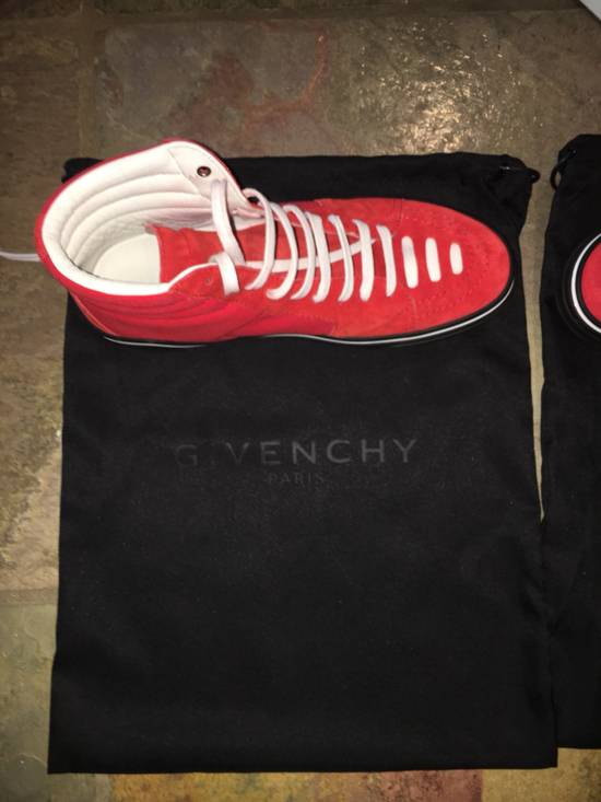 Givenchy Red Givenchy High Tops Size US 7.5 / EU 40-41 - 8