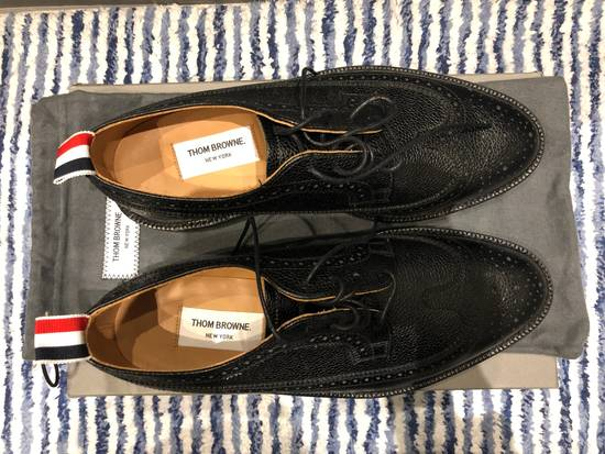 Thom Browne Classic Longwing Brogues with Leather Sole in Pebble Grain Size US 9 / EU 42 - 2