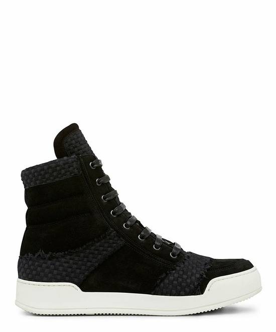 Balmain Black woven high top sneakers Size US 8 / EU 41