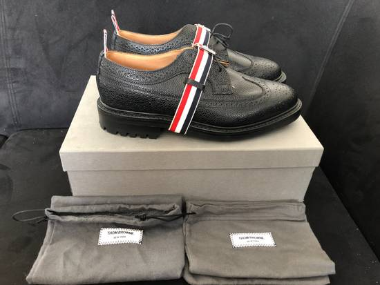 Thom Browne Thom Browne black grained-leather Longwing brogues size 9US Size US 9 / EU 42 - 1