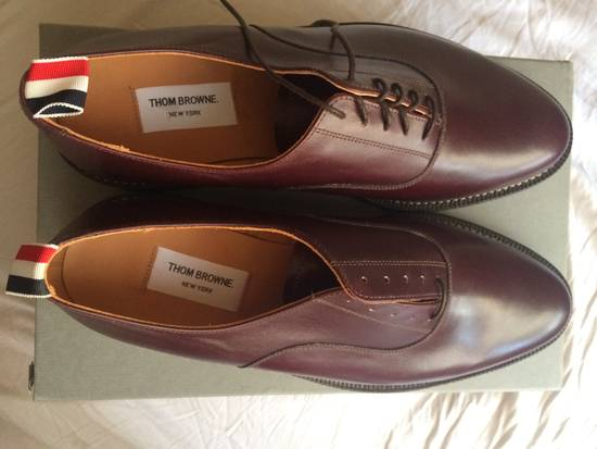 Thom Browne burgundy LEATHER OXFORD SHOES Size US 12 / EU 45 - 1