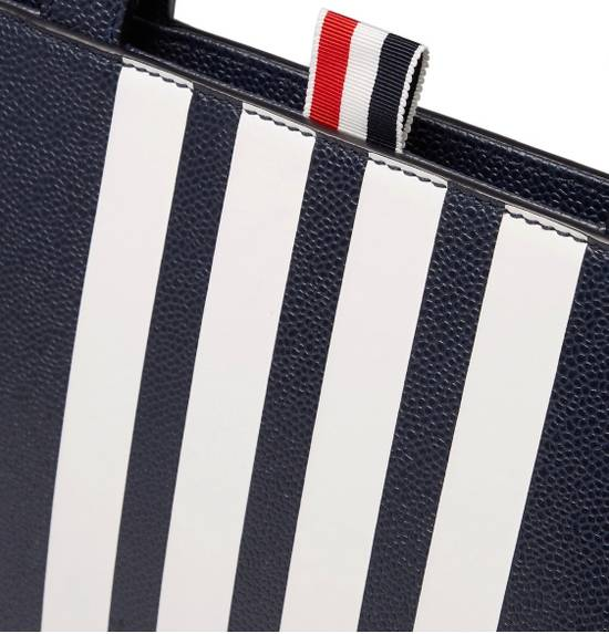 Thom Browne NWT Striped Pebble-grain Leather Briefcase Size ONE SIZE - 1