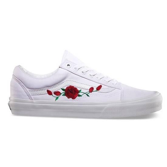 Vans Custom Embroidered Rose Vans Size US 10 / EU 43 - 4