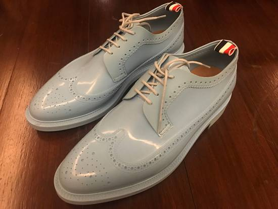 Thom Browne $1,424 patent rubber baby blue shoes Size US 9 / EU 42 - 4