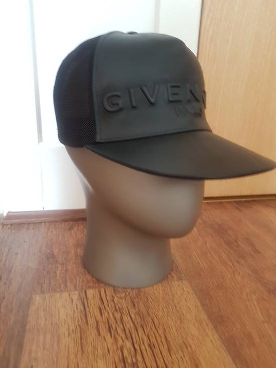 Givenchy Givenchy Logo-Embossed Leather and Mesh Cap Size ONE SIZE - 1