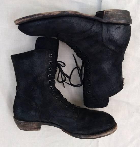 Julius Black Reversed Leather Backzip Combat Boots Size US 11 / EU 44 - 7