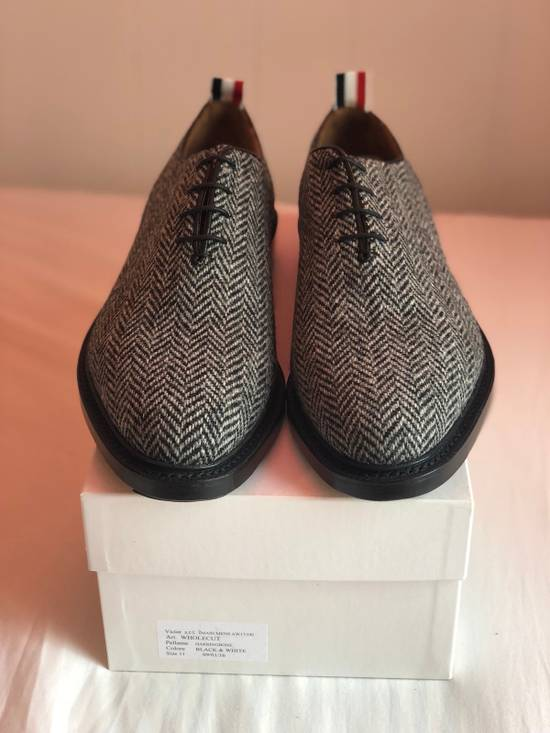 Thom Browne Extremely Rare F/W 17 Wholecut Herringbone Wool Runway Samples Size US 11 / EU 44