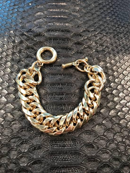 "Givenchy Thick Bracelet Gold Cuban Link 8"" Size ONE SIZE"