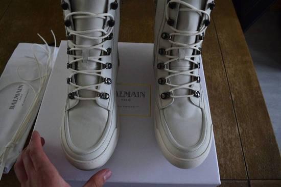 Balmain Balmain Authentic $1150 Leather White High Top Sneakers Size 11 Brand New Size US 11 / EU 44 - 8