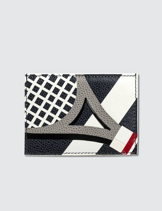 Thom Browne White Card Holder Size ONE SIZE - 1