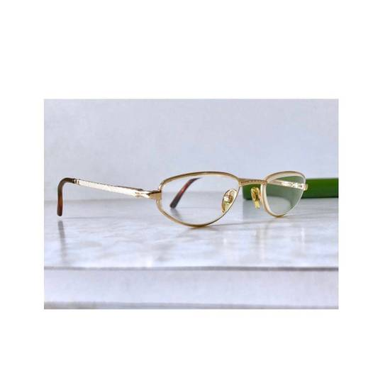 Givenchy Givenchy Gold Vintage 90s Oval Round Frames Square Eyeglasses Size ONE SIZE - 2