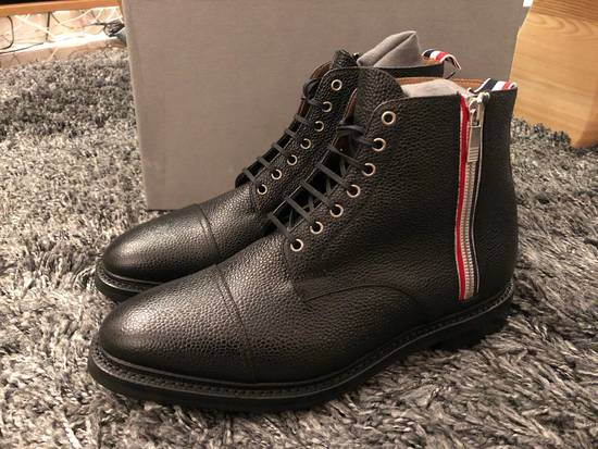 Thom Browne Black Leather Boots Brand New Size Us10 Size US 10 / EU 43