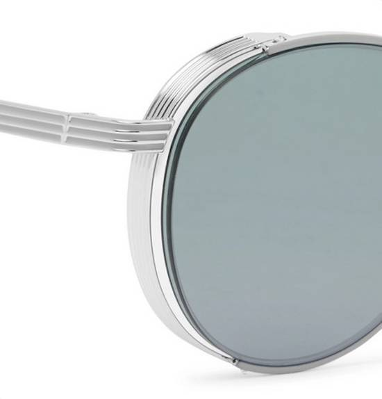 Thom Browne Thom Browne Round-Frame Silver Tone Sunglasses made in japan blue lenses 100 UV Size ONE SIZE - 4