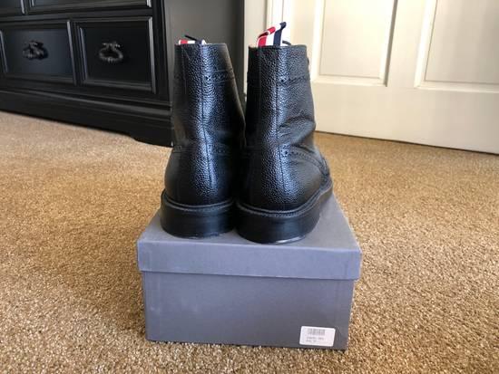 Thom Browne Men's Black Pebble Wingtip Boot Shoe Size US 12 / EU 45 - 1