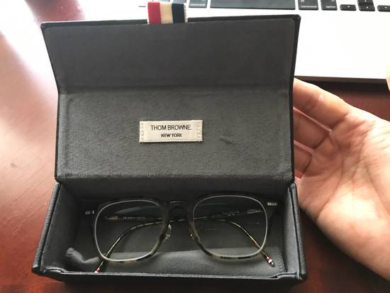 Thom Browne Tortoiseshell Acetate TB-406 Glasses Size ONE SIZE - 3