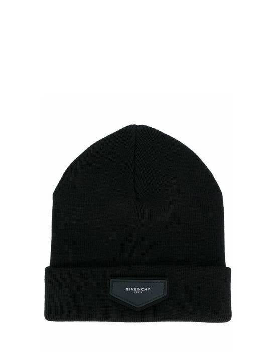 Givenchy Givenchy Black Logo Beanie Hat Size ONE SIZE