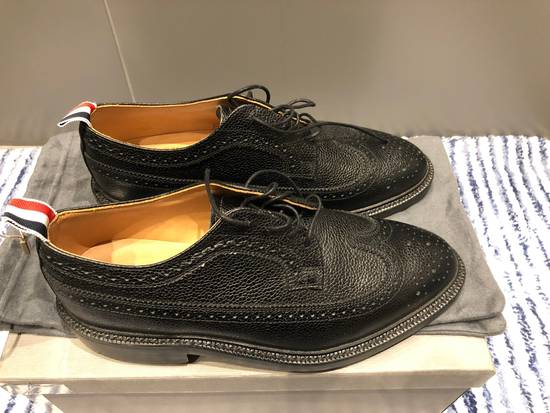 Thom Browne Classic Longwing Brogues with Leather Sole in Pebble Grain Size US 9 / EU 42 - 1