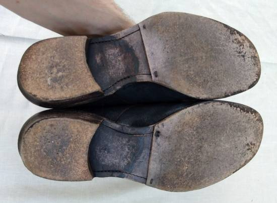 Julius Black Reversed Leather Backzip Combat Boots Size US 11 / EU 44 - 11