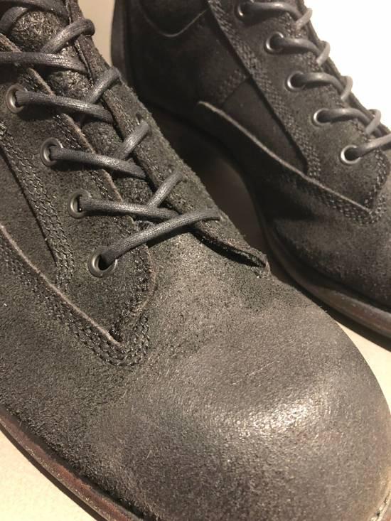 Julius Blistered Leather Back Zip Combat Boots Size US 11 / EU 44 - 8