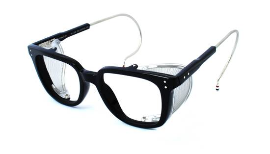 Thom Browne TB-018 Glasses - Black/Matte Silver Size ONE SIZE
