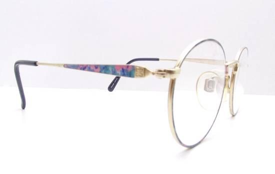 Givenchy GIVENCHY Vintage 90s Oval Round Frame Eyewear Gold Tone Purple Blue Pink Green Eyeglasses Glasses Size ONE SIZE