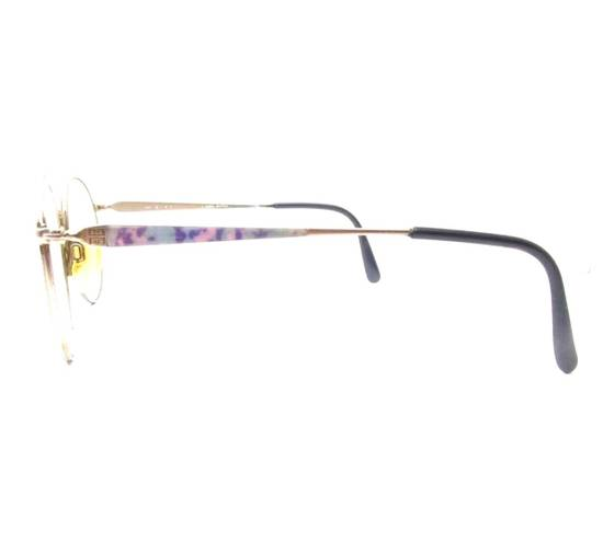 Givenchy Vintage 90s Gold Round Givenchy Frames Pink Blue Purple Eyeglasses Glasses Not Cartier Gucci Saint Laurent Fendi Dior Versace Size ONE SIZE - 6