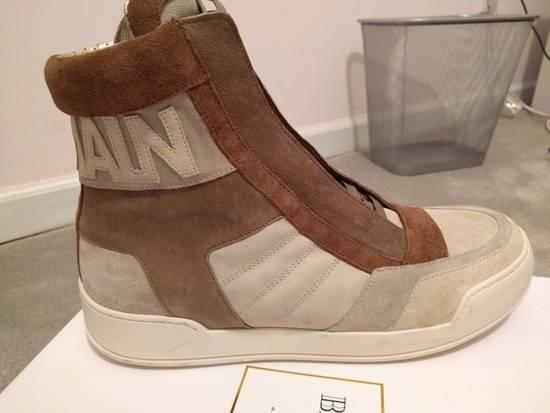 Balmain NEW Balmain Leather and Suede Hi-Top Sneakers Size US 9 / EU 42