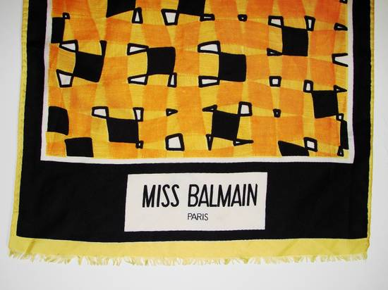 Balmain Miss Balmain Paris Scarf Multi-Color Size ~ 28 x 118 Excellent Condition 🔥 Final Price !! Final Drop or delete !! Need Gone Today !! Size ONE SIZE - 3
