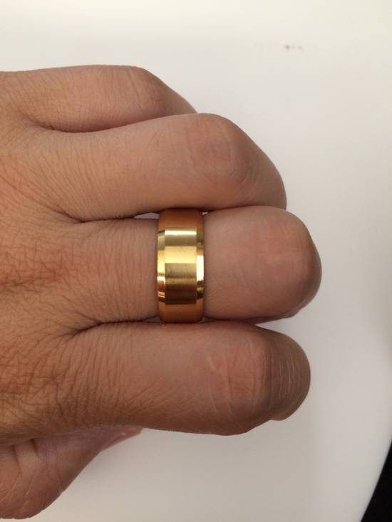 Jw Golden Stainless Steel Ring - size 8 Size ONE SIZE - 2