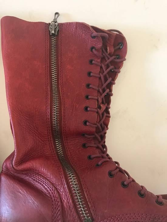 Julius AW09 blood high cut side zips boots Size US 10 / EU 43 - 8