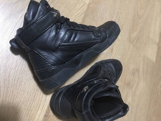 Givenchy Black Leather Tyson Star Hi Top Sneakers Size 9 UK 43 Silver Calf Boots Size US 9.5 / EU 42-43 - 4