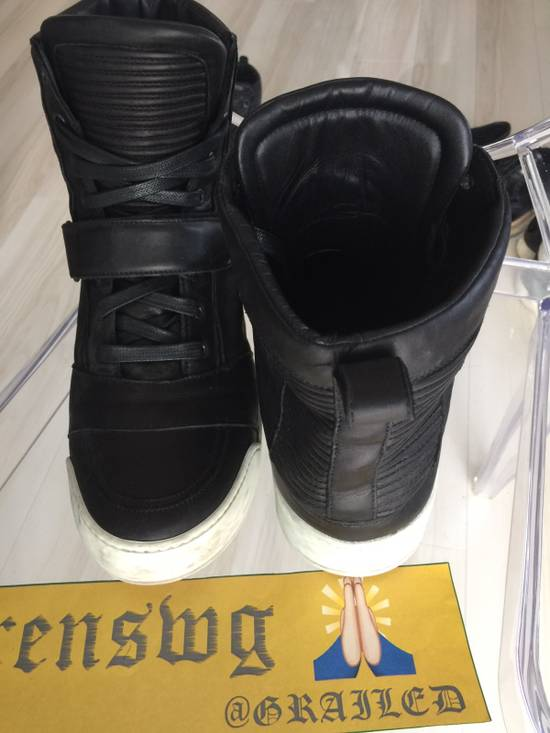 Balmain Balmain High Top Leather Sneakers Size US 11 / EU 44 - 1