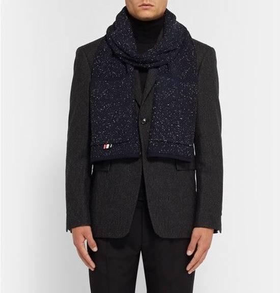 Thom Browne Flecked Wool Pocket Scarf Size ONE SIZE