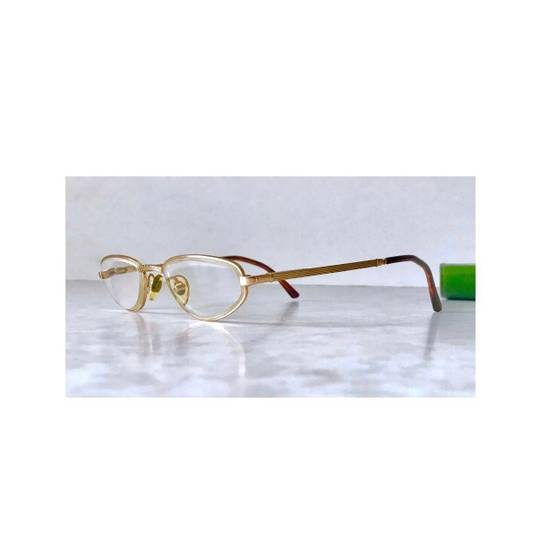 Givenchy Givenchy Gold Vintage 90s Oval Round Frames Square Eyeglasses Size ONE SIZE - 1