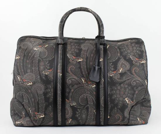 Givenchy Men's Gray/Black Leather Paisley Weekender Bag Size ONE SIZE - 3